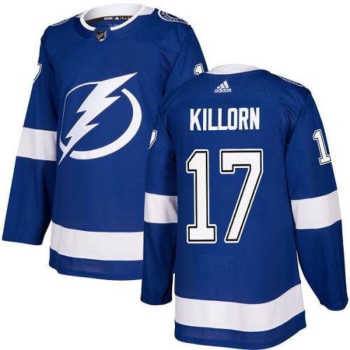 Adidas Lightning #17 Alex Killorn Blue Home Authentic Stitched NHL Jersey