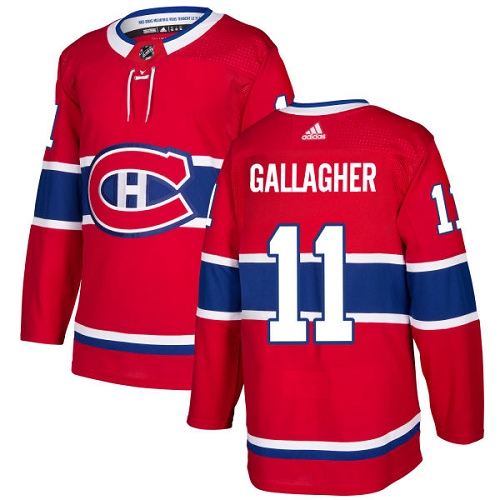 Adidas Canadiens #11 Brendan Gallagher Red Home Authentic Stitched NHL Jersey