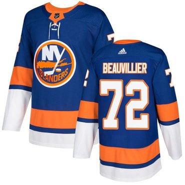Adidas Islanders #72 Anthony Beauvillier Royal Blue Home Authentic Stitched NHL Jersey