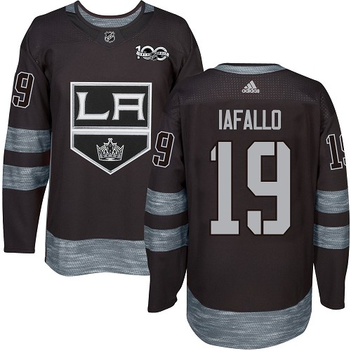 Adidas Kings #19 Alex Iafallo Black 1917-2017 100th Anniversary Stitched NHL Jersey