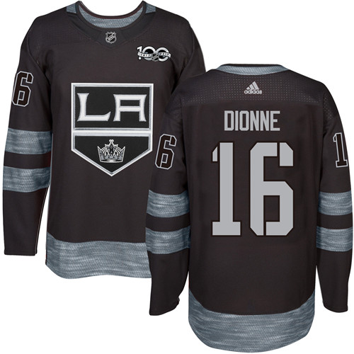 Adidas Kings #16 Marcel Dionne Black 1917-2017 100th Anniversary Stitched NHL Jersey