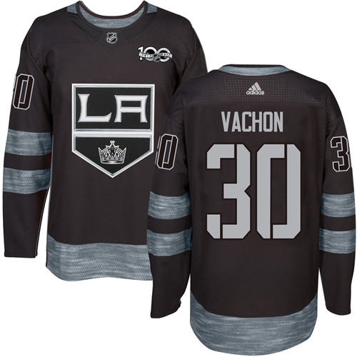 Adidas Kings #30 Rogie Vachon Black 1917-2017 100th Anniversary Stitched NHL Jersey