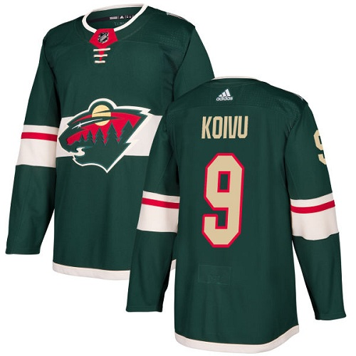 Adidas Wild #9 Mikko Koivu Green Home Authentic Stitched NHL Jersey