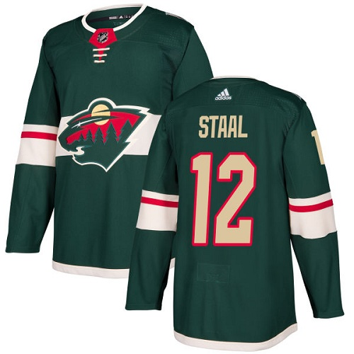 Adidas Wild #12 Eric Staal Green Home Authentic Stitched NHL Jersey