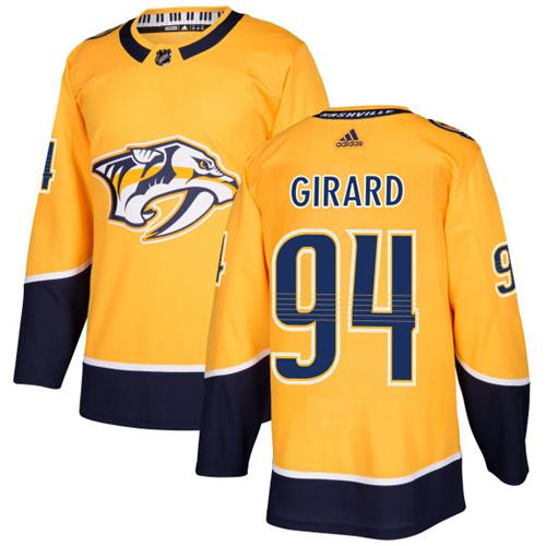 Adidas Predators #94 Samuel Girard Yellow Home Authentic Stitched NHL Jersey