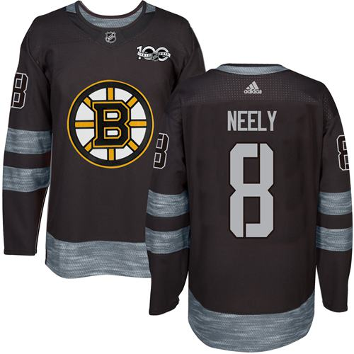 Adidas Bruins #8 Cam Neely Black 1917-2017 100th Anniversary Stitched NHL Jersey