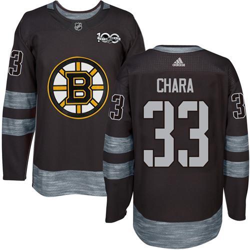 Adidas Bruins #33 Zdeno Chara Black 1917-2017 100th Anniversary Stitched NHL Jersey
