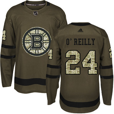 Adidas Bruins #24 Terry O'Reilly Green Salute to Service Stitched NHL Jersey