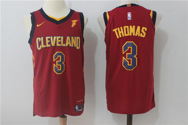 Nike Cleveland Cavaliers #3 Isaiah Thomas Red Stitched NBA Swingman Jersey