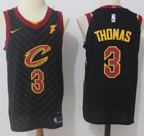 Nike Cleveland Cavaliers #3 Isaiah Thomas Black Stitched NBA Swingman Jersey