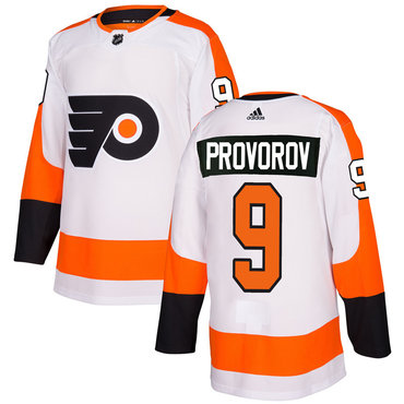 Adidas Philadelphia Flyers #9 Ivan Provorov White Authentic Stitched NHL Jersey