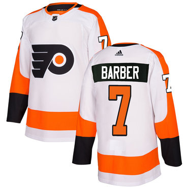 Adidas Philadelphia Flyers #7 Bill Barber White Authentic Stitched NHL Jersey