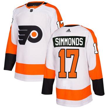 Adidas Philadelphia Flyers #17 Wayne Simmonds White Authentic Stitched NHL Jersey
