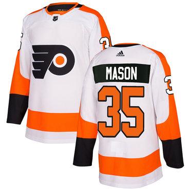 Adidas Philadelphia Flyers #35 Steve Mason White Authentic Stitched NHL Jersey