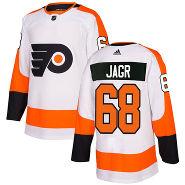 Adidas Philadelphia Flyers #68 Jaromir Jagr White Authentic Stitched NHL Jersey
