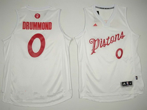 Men's Detroit Pistons #0 Andre Drummond adidas White 2016 Christmas Day Stitched NBA Swingman Jersey