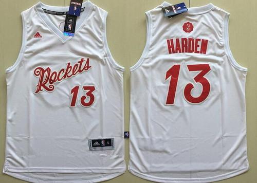Men's Houston Rockets #13 James Harden adidas White 2016 Christmas Day Stitched NBA Swingman Jersey