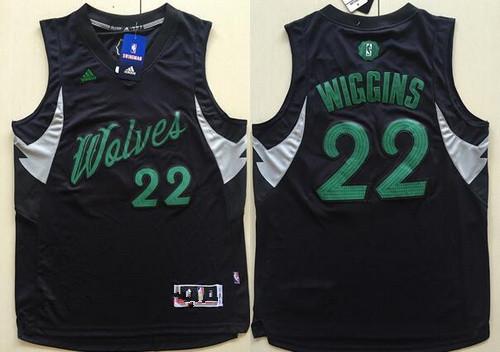 Men's Minnesota Timberwolves #22 Andrew Wiggins adidas Black 2016 Christmas Day Stitched NBA Swingman Jersey