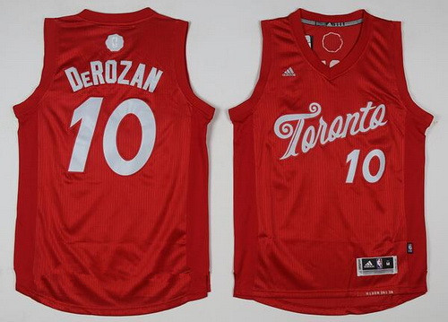 Men's Toronto Raptors #10 DeMar DeRozan adidas Red 2016 Christmas Day Stitched NBA Swingman Jersey