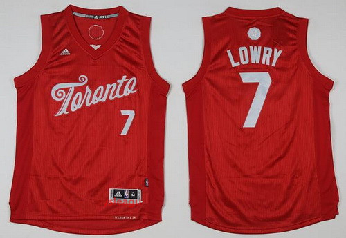 Men's Toronto Raptors #7 Kyle Lowry adidas Red 2016 Christmas Day Stitched NBA Swingman Jersey