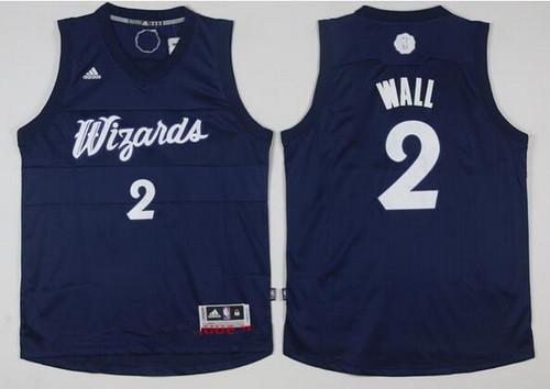 Men's Washington Wizards #2 John Wall adidas Navy Blue 2016 Christmas Day Stitched NBA Swingman Jersey