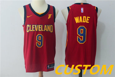 Custom Men's Cleveland Cavaliers Burgundy Red 2017-2018 Nike Swingman Goodyear Stitched NBA Jersey