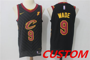Custom Men's Cleveland Cavaliers Black 2017-2018 Nike Swingman Stitched NBA Jersey