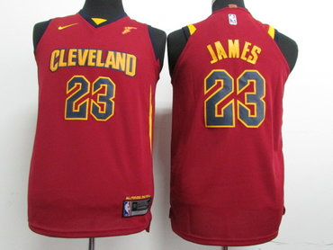 Nike Cavaliers #23 LeBron James Red Stitched Youth NBA Swingman Jersey