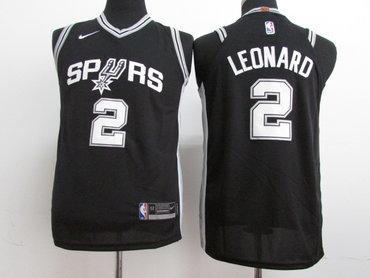 Nike Spurs #2 Kawhi Leonard Black Stitched Youth NBA Jersey