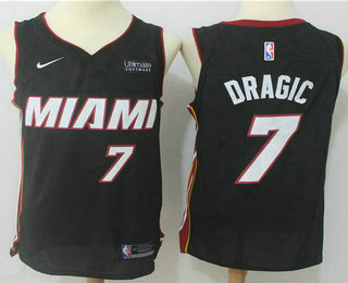 Men's Miami Heat #7 Goran Dragic Black 2017-2018 Nike Swingman Ultimate Software Stitched NBA Jersey