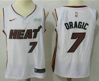 Men's Miami Heat #7 Goran Dragic White 2017-2018 Nike Swingman Ultimate Software Stitched NBA Jersey