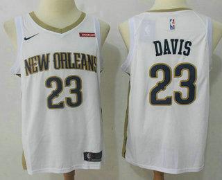 Men's New Orleans Pelicans #0 DeMarcus Cousins New White 2017-2018 Nike Swingman zatarains Stitched NBA Jersey