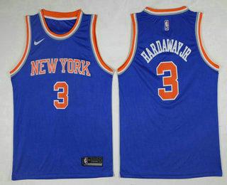 Men's New York Knicks #5 Tim Hardaway Jr Blue 2017-2018 Nike Icon Edition Swingman Jersey