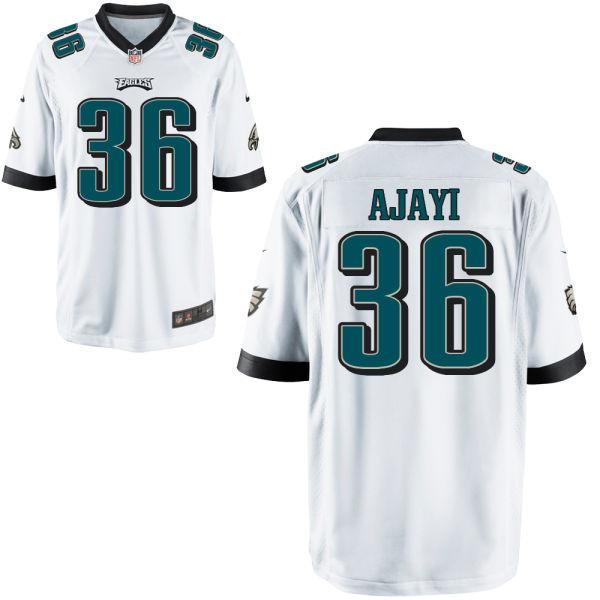 Mens Philadelphia Eagles #36 Jay Ajayi Nike Elite White Jersey