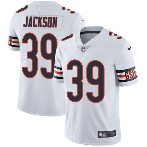 Nike Chicago Bears #39 Eddie Jackson Limited White Road Vapor Untouchable NFL Jersey