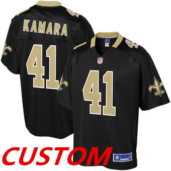 Custom New Orleans Saints NFL Pro Line Team Color Black Player Jersey