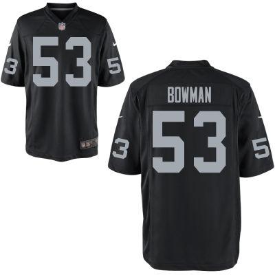 Men's Oakland Raiders #53 NaVorro Bowman Nike Black Elite Jersey
