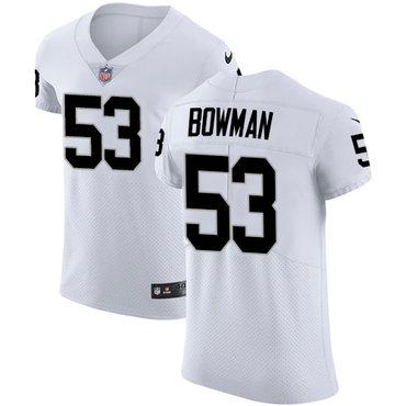 Nike Raiders #53 NaVorro Bowman White Men's Stitched NFL Vapor Untouchable Elite Jersey