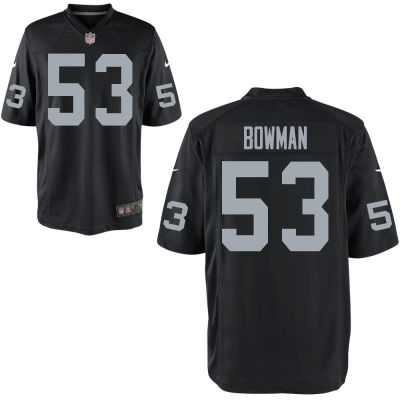 Youth's Oakland Raiders #53 NaVorro Bowman Nike Black Jersey