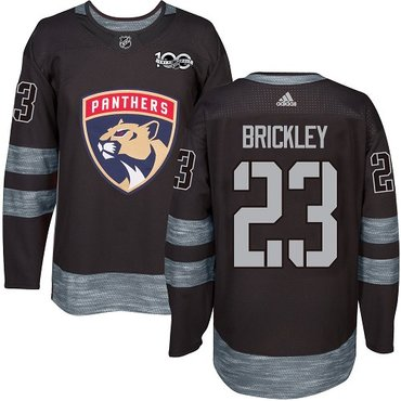 Adidas Panthers #23 Connor Brickley Black 1917-2017 100th Anniversary Stitched NHL Jersey