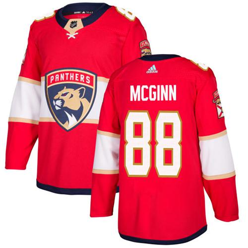 Adidas Panthers #88 Jamie McGinn Red Home Authentic Stitched NHL Jersey