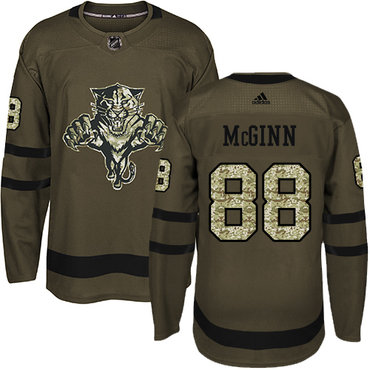 Adidas Panthers #88 Jamie McGinn Green Salute to Service Stitched NHL Jersey