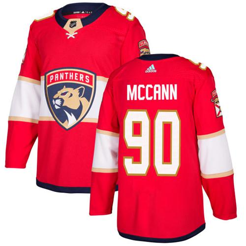 Adidas Panthers #90 Jared McCann Red Home Authentic Stitched NHL Jersey