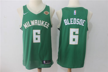 Men's Milwaukee Bucks #6 Eric Bledsoe Green 2017-2018 Nike Swingman Harley Davidson Stitched NBA Jersey