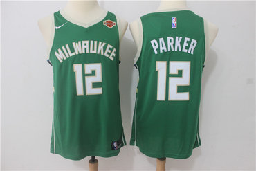 Men's Milwaukee Bucks #12 Jabari Parker Green 2017-2018 Nike Swingman Harley Davidson Stitched NBA Jersey