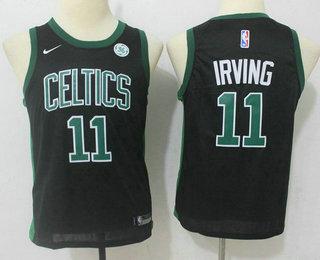Youth Boston Celtics #11 Kyrie Irving Black 2017-2018 Nike Swingman General Electric Stitched NBA Jersey