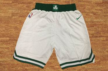 Men's Boston Celtics White Nike NBA Shorts