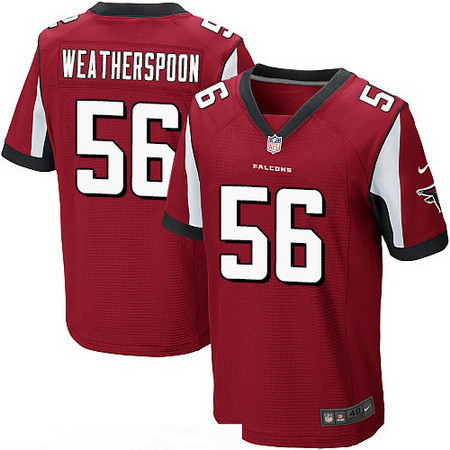 Men's Atlanta Falcons #56 Sean Weatherspoon Red Team Color Stitched NFL Nike Elite Jersey