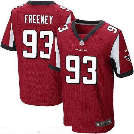 Men's Atlanta Falcons #93 Dwight Freeney Red Team Color Stitched NFL Nike Elite Jersey