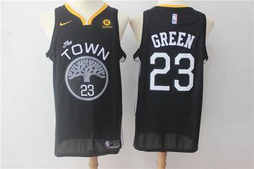 Warriors 23 Draymond Green Black Nike Swingman Jersey